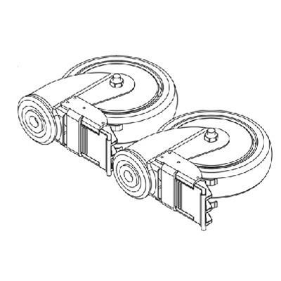 I-Lift Rear Locking Caster Kit With Hardware