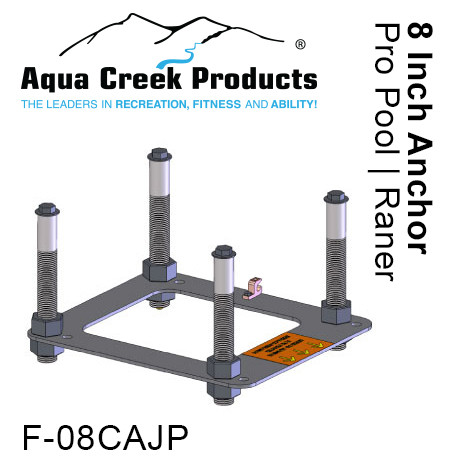 "Anchor Kit, Pavers, 4-point w/jig & 8"" inserts"