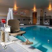 Aqua Creek Admiral - ADA Compliant 450lb Pool Lift - White with Tan Seat