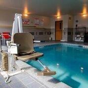 Aqua Creek Admiral - ADA Compliant Pool Lift - F-ADMRL - No Anchor White with Tan Seat