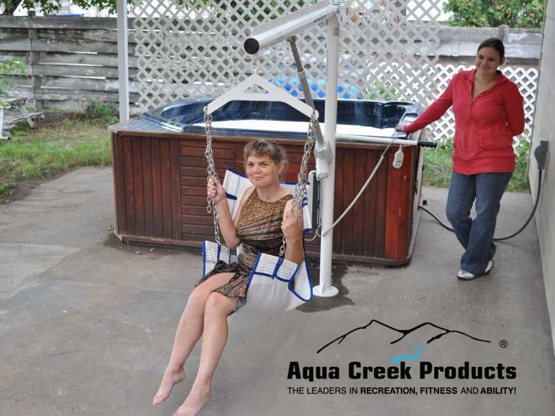 Aqua Creek Super Power EZ Pool - Spa Lift - Right Front Veiw