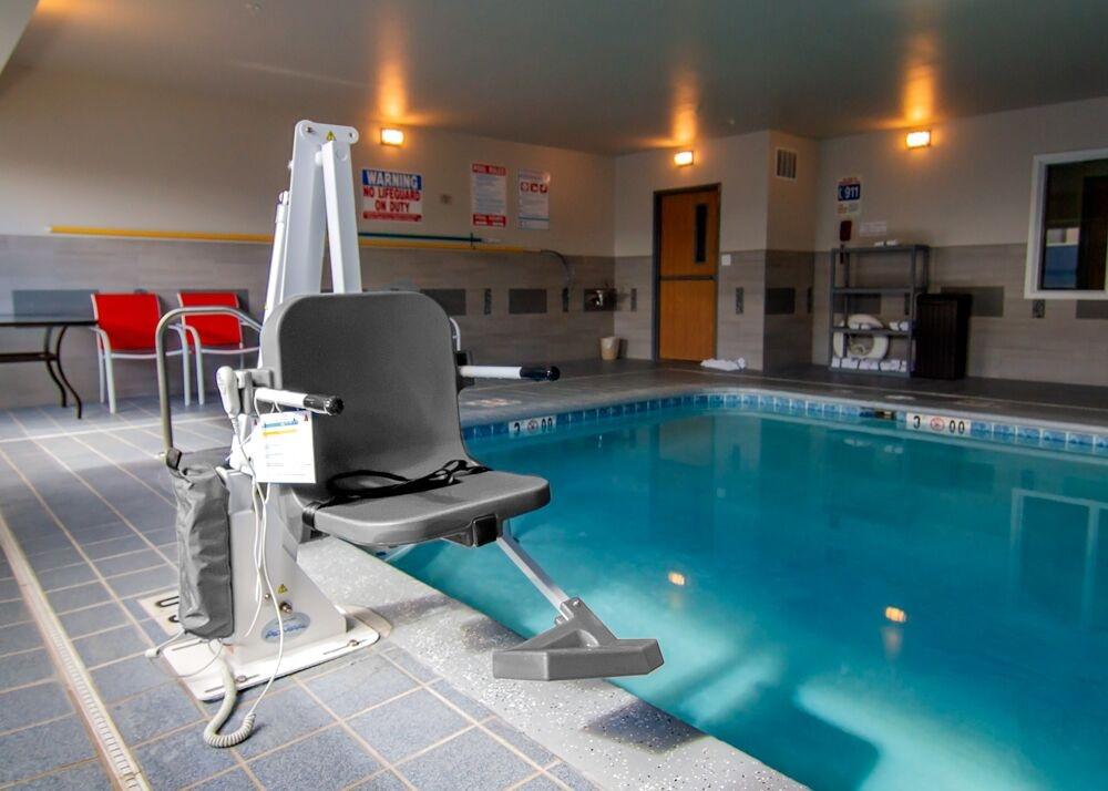 Aqua Creek Admiral - ADA Compliant 450lb Pool Lift - White with Gray Seat