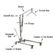Invacare 9805 Hydraulic Patient Lift Parts