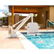 Ranger 2 Pool Lift - No Anchor - 350 lb - White with White Seat