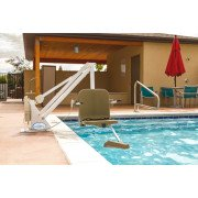 Ranger 2 Pool Lift - No Anchor - 350 lb - White with Blue Seat