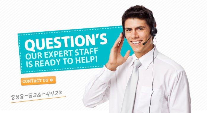 Expert Customer Service 1-888-826-4423